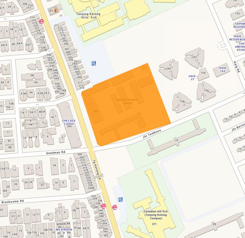 Jalan Tembusu Condo Location Map